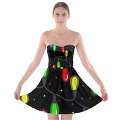 Christmas Light Strapless Bra Top Dress by Valentinaart
