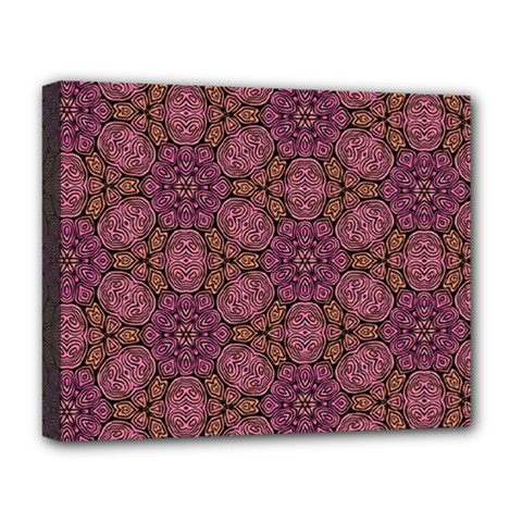 Fuchsia Abstract Shell Pattern Deluxe Canvas 20  X 16   by TanyaDraws