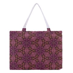 Fuchsia Abstract Shell Pattern Medium Tote Bag by TanyaDraws