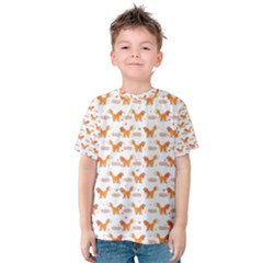 Fox and Laurel Pattern Kid s Cotton Tee by TanyaDraws