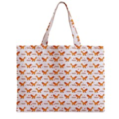 Fox And Laurel Pattern Zipper Mini Tote Bag by TanyaDraws