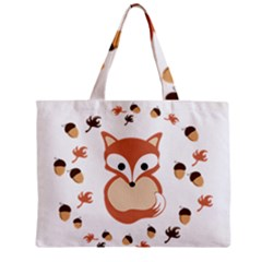 Fox In Autumn Mini Tote Bag by vanessagf