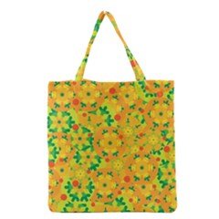 Christmas Decor   Yellow Grocery Tote Bag by Valentinaart