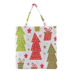 Christmas Design   Green And Red Grocery Tote Bag by Valentinaart