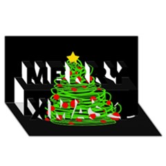 Christmas Tree Merry Xmas 3d Greeting Card (8x4) by Valentinaart