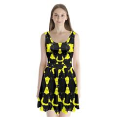 Raphael Balance Split Back Mini Dress