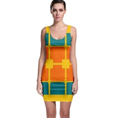 Squares And Rectangles                                                                                                Bodycon Dress by LalyLauraFLM