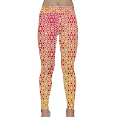 Orange Ombre Mosaic Pattern Yoga Leggings  by TanyaDraws