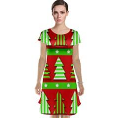 Christmas trees pattern Cap Sleeve Nightdress by Valentinaart