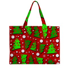 Twisted Christmas trees Medium Tote Bag by Valentinaart
