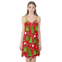 Christmas Trees And Gifts Pattern Camis Nightgown by Valentinaart