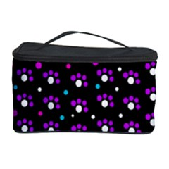 Purple Dots Pattern Cosmetic Storage Case by Valentinaart