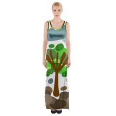 Tree Maxi Thigh Split Dress by Valentinaart