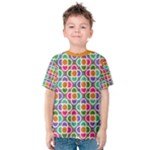Modernist Floral Tiles Kid s Cotton Tee
