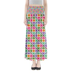 Modernist Floral Tiles Women s Maxi Skirt by DanaeStudio