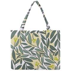 Green floral pattern Mini Tote Bag