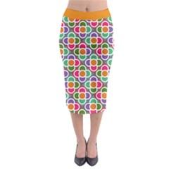 Modernist Floral Tiles Midi Pencil Skirt by DanaeStudio