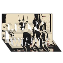 30 Sexy Conte Sketch Girls In Room Naked Ass Butts Shadows Best Wish 3d Greeting Card (8x4) by PeterReiss
