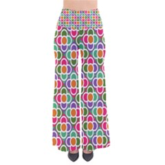 Modernist Floral Tiles Women s Chic Palazzo Pants  by DanaeStudio