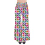 Modernist Floral Tiles Women s Chic Palazzo Pants