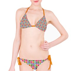 Modernist Floral Tiles Bikini by DanaeStudio