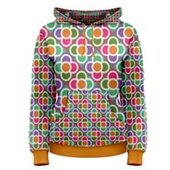 Modernist Floral Tiles Women s Pullover Hoodie by DanaeStudio