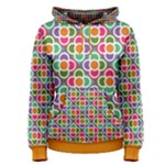 Modernist Floral Tiles Women s Pullover Hoodie