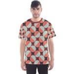 Modernist Geometric Tiles Men s Sport Mesh Tee