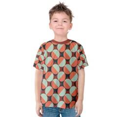 Modernist Geometric Tiles Kid s Cotton Tee by DanaeStudio