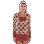 Modernist Geometric Tiles Women s Long Sleeve Hooded T-shirt
