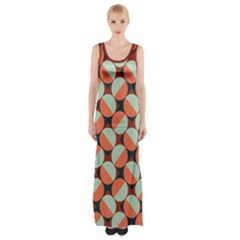 Modernist Geometric Tiles Maxi Thigh Split Dress by DanaeStudio