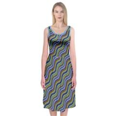 Wavy Daze Midi Sleeveless Dress by Contest1673627