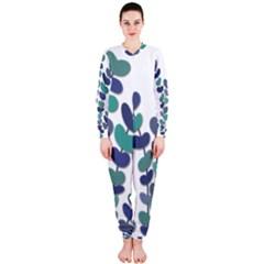 Blue decorative plant OnePiece Jumpsuit (Ladies)  by Valentinaart