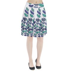 Blue decorative plant Pleated Skirt by Valentinaart