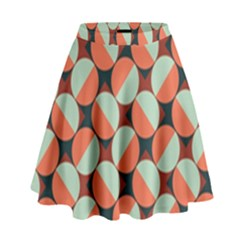 Modernist Geometric Tiles High Waist Skirt by DanaeStudio