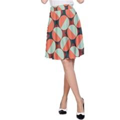 Modernist Geometric Tiles A Line Skirt by DanaeStudio