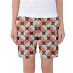 Modernist Geometric Tiles Women s Basketball Shorts
