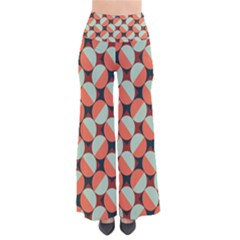 Modernist Geometric Tiles Women s Chic Palazzo Pants  by DanaeStudio