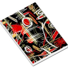 Artistic Abstract Pattern Large Memo Pads by Valentinaart