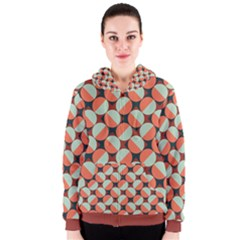 Modernist Geometric Tiles Women s Zipper Hoodie by DanaeStudio