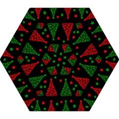 Decorative Christmas trees pattern Mini Folding Umbrellas by Valentinaart