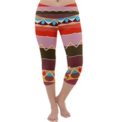 Waves And Other Shapes                        Capri Yoga Leggings by LalyLauraFLM