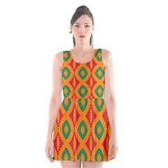 Rhombus And Other Shapes Pattern                                                                                                     Scoop Neck Skater Dress by LalyLauraFLM