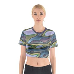 3d Shapes                                                                                                      Cotton Crop Top by LalyLauraFLM