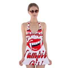 Vampire Girl Halter Swimsuit Dress by igorsin