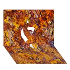 Rusted Metal Surface Ribbon 3d Greeting Card (7x5) by igorsin