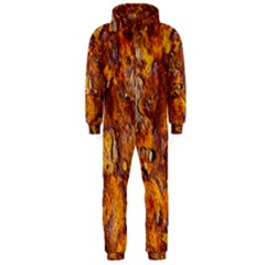 Rusted metal surface Hooded Jumpsuit (Men)  by igorsin