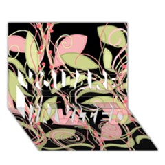 Pink And Ocher Ivy You Are Invited 3d Greeting Card (7x5) by Valentinaart