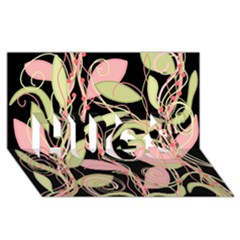 Pink And Ocher Ivy Hugs 3d Greeting Card (8x4) by Valentinaart