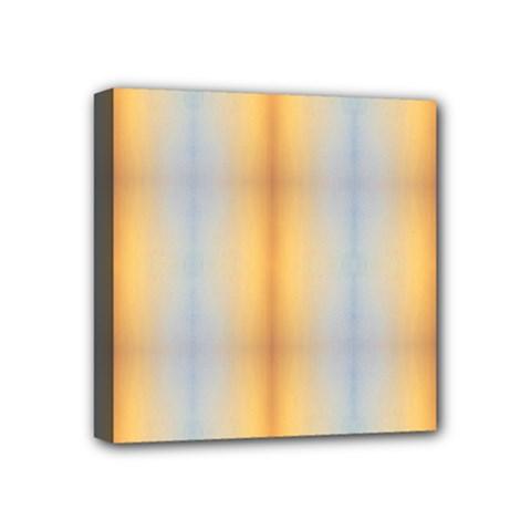 Blue Yellow Summer Pattern Mini Canvas 4  X 4  by Costasonlineshop